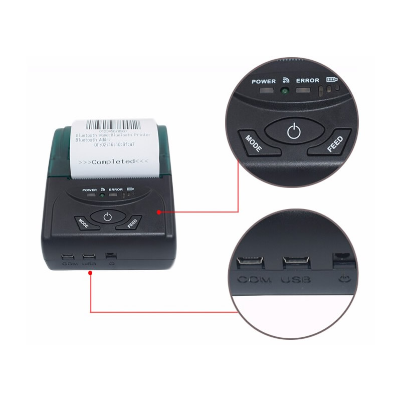 Wireless 58 mm Thermal Printer