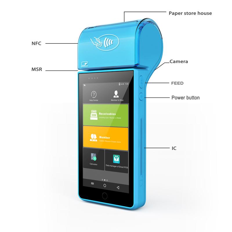 Écran tactile mobile POS