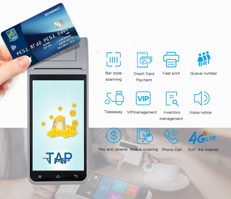 Android portable epos system machines