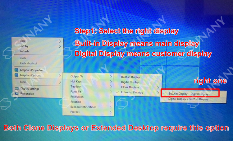 Display or touch anomalies after reinstalling Windows OS in a dual screen POS machine